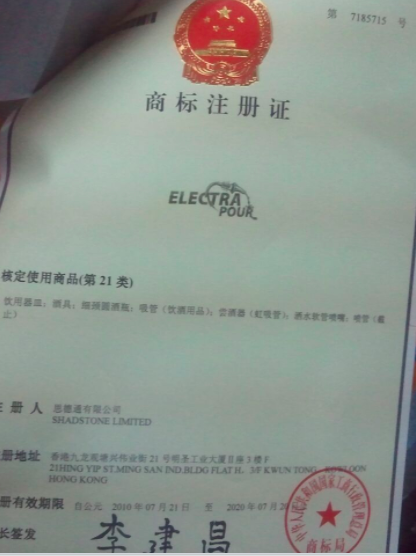 Chinese trademark documents